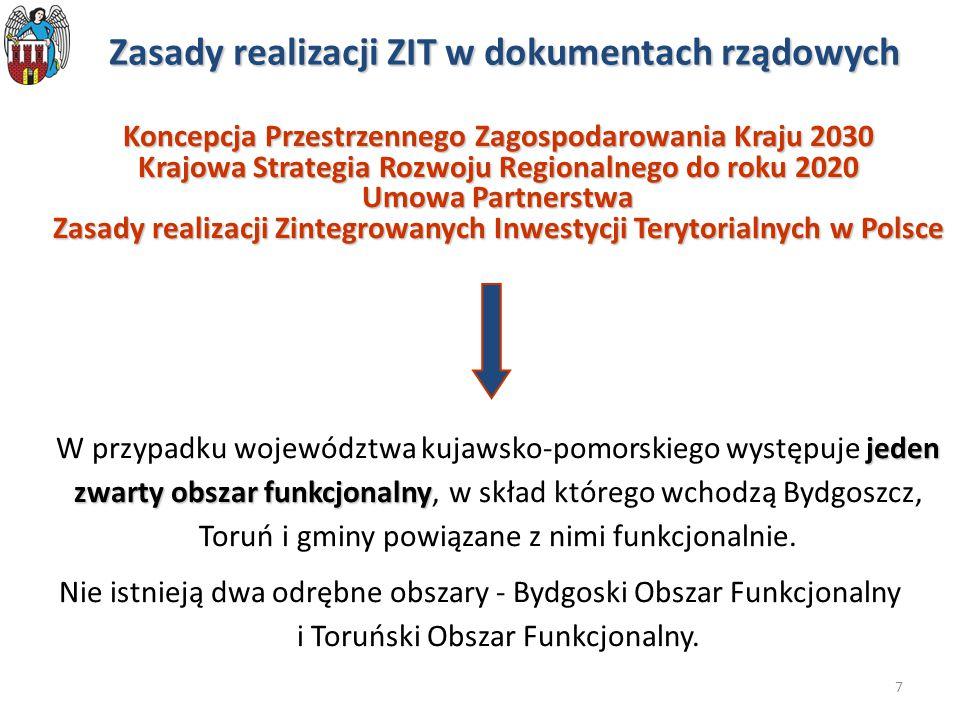 Zasady realizacji ZIT w dokumentach rządowych