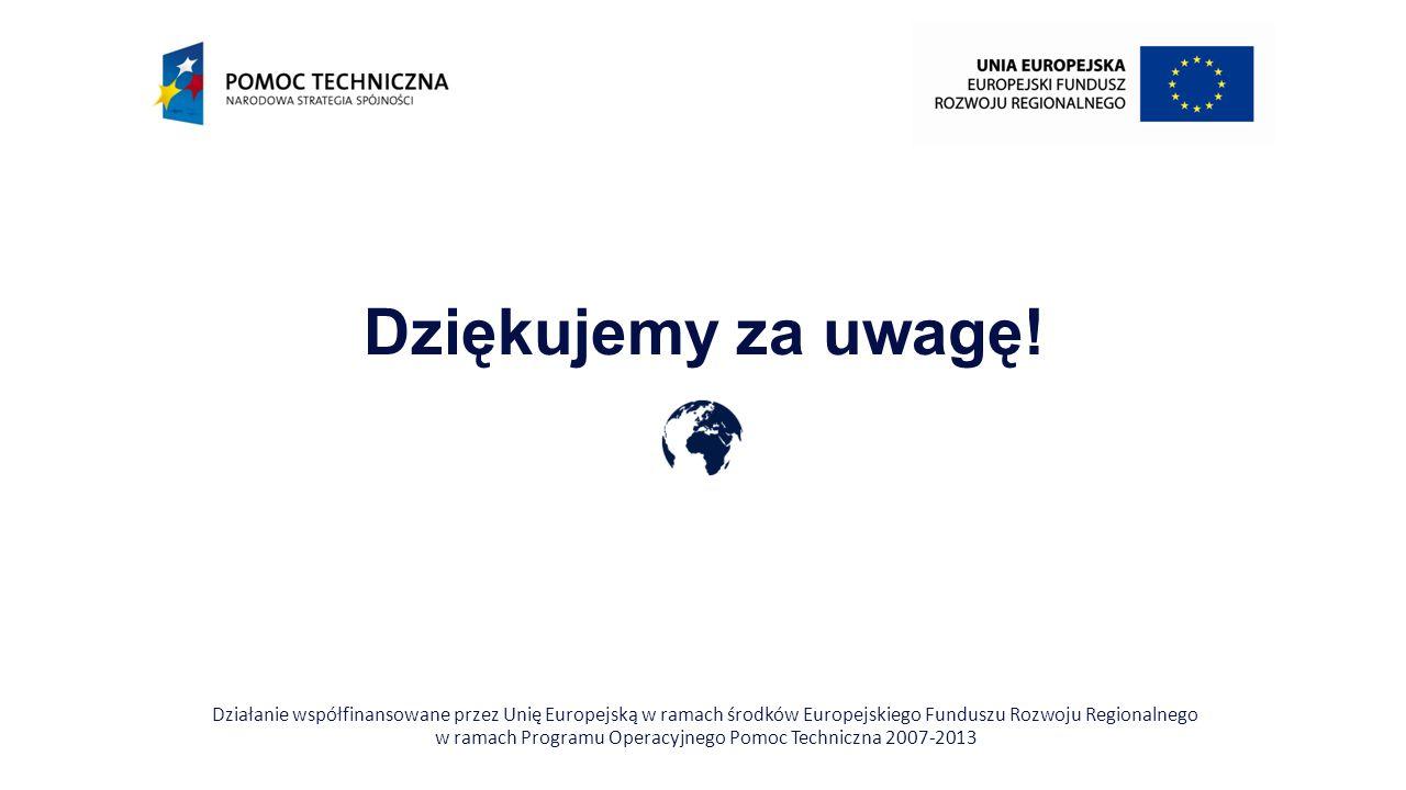 w ramach Programu Operacyjnego Pomoc Techniczna 2007-2013