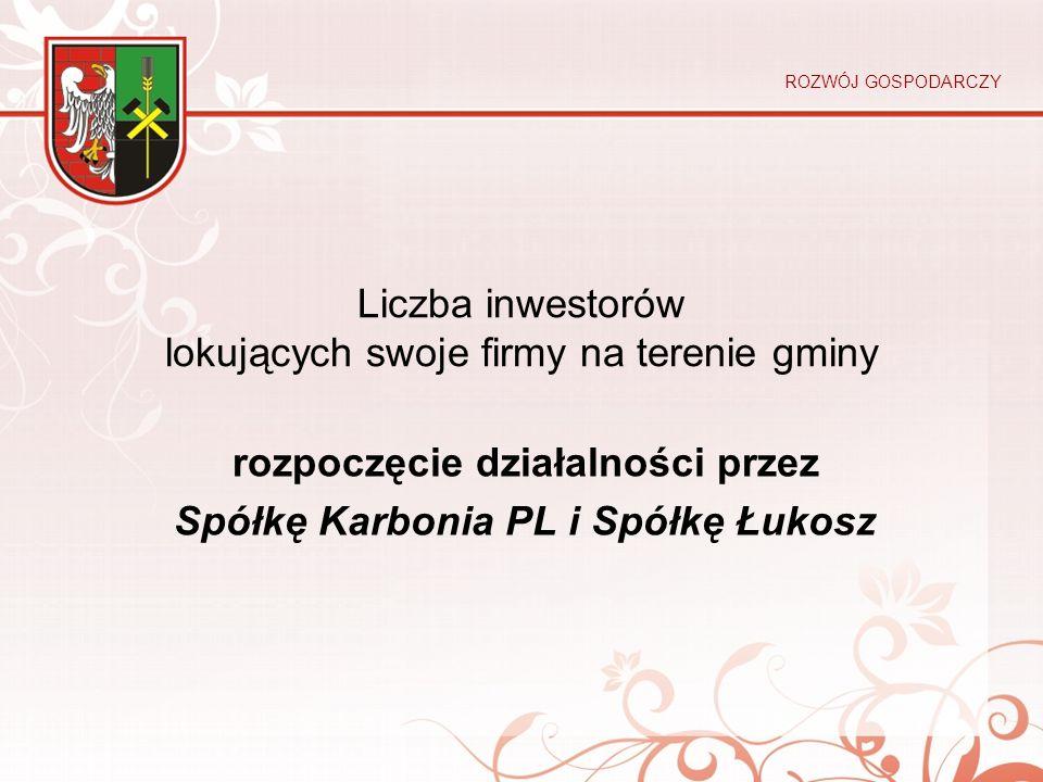 Liczba inwestorów lokujących swoje firmy na terenie gminy