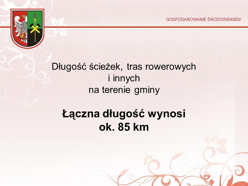 Długość ścieżek, tras rowerowych i innych na terenie gminy