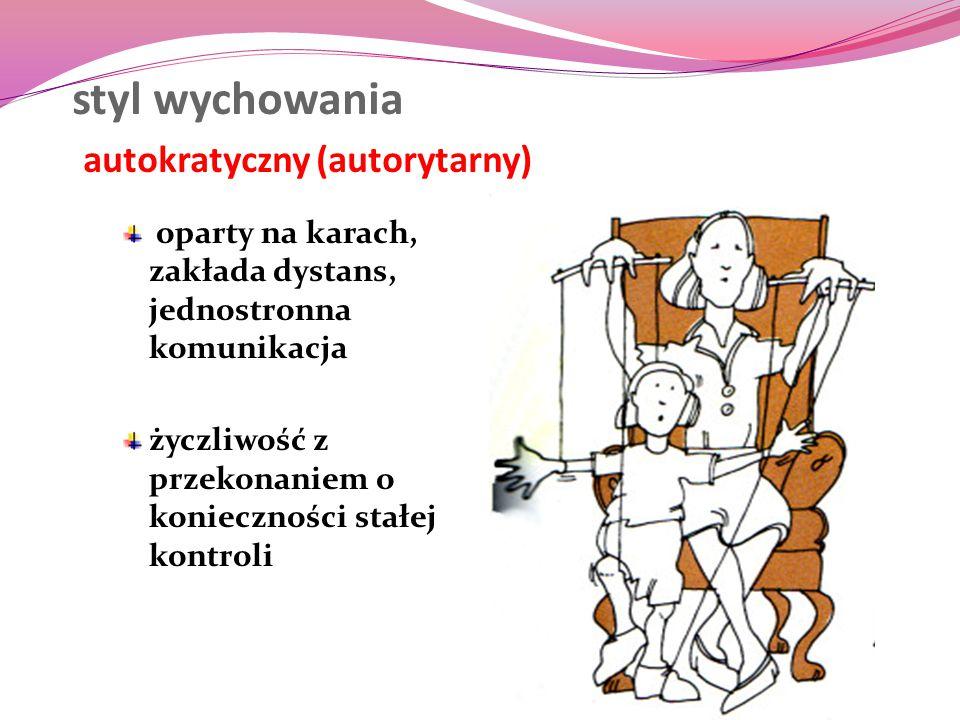 styl wychowania autokratyczny (autorytarny)