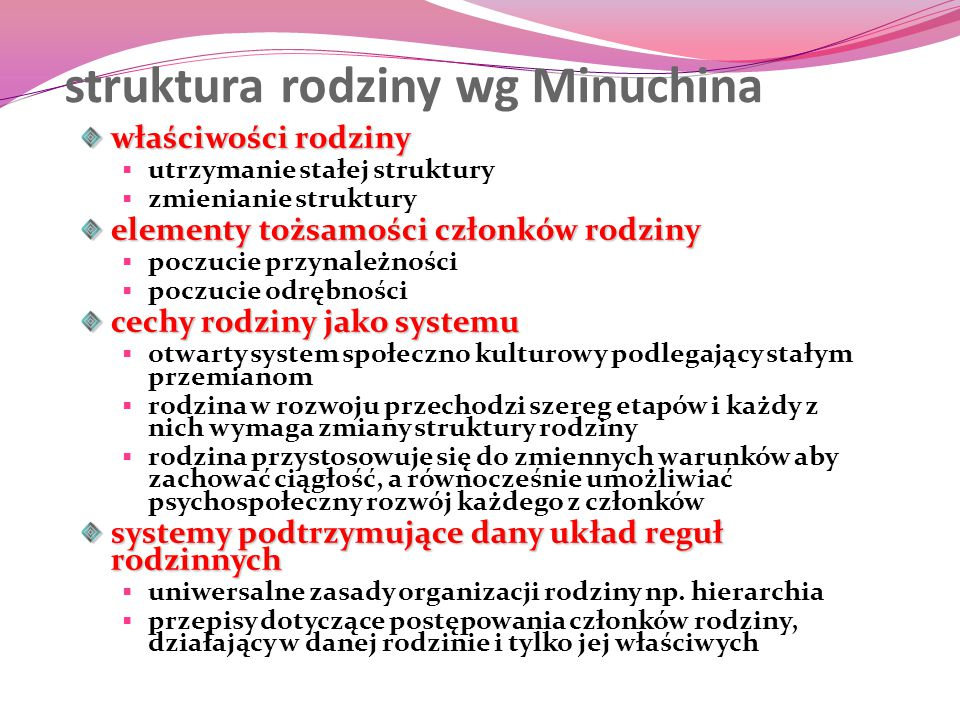 struktura rodziny wg Minuchina