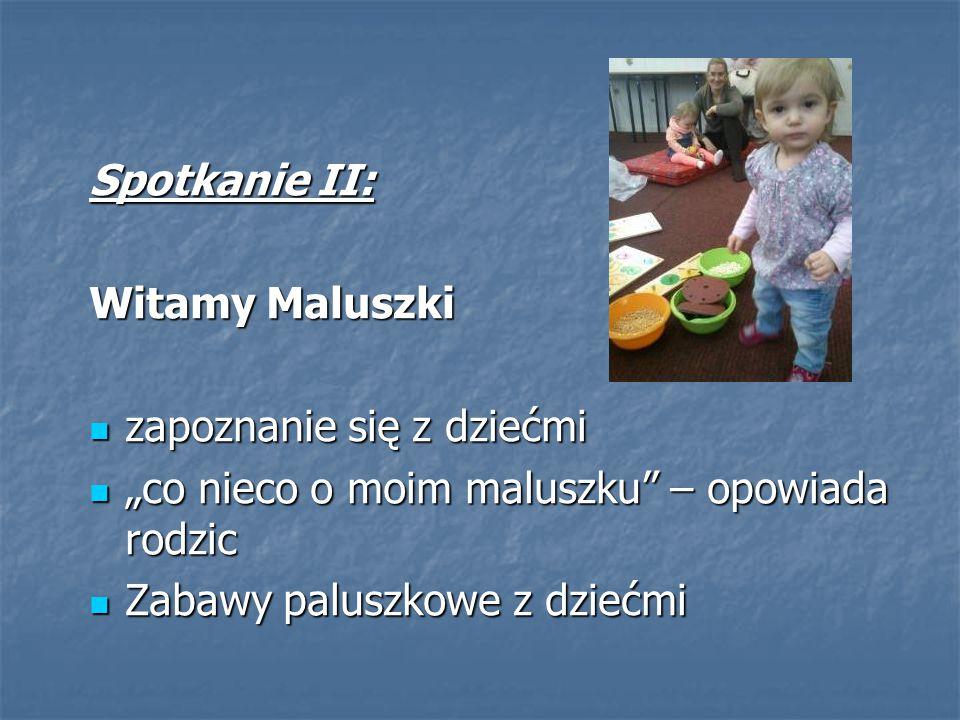 """Spotkanie II: Witamy Maluszki. zapoznanie się z dziećmi. """"co nieco o moim maluszku – opowiada rodzic."""