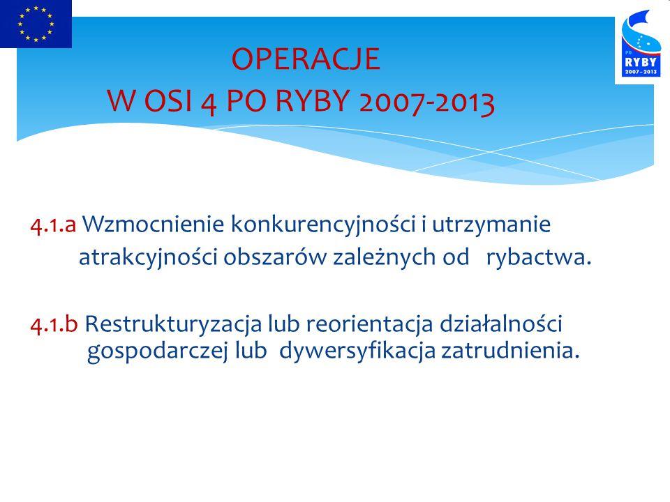 OPERACJE W OSI 4 PO RYBY 2007-2013