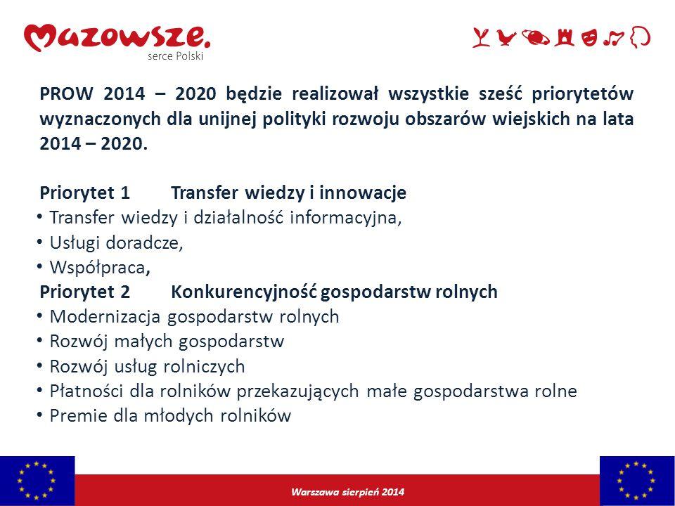 Priorytet 1 Transfer wiedzy i innowacje