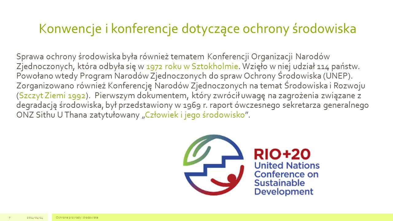 Konwencje i konferencje dotyczące ochrony środowiska