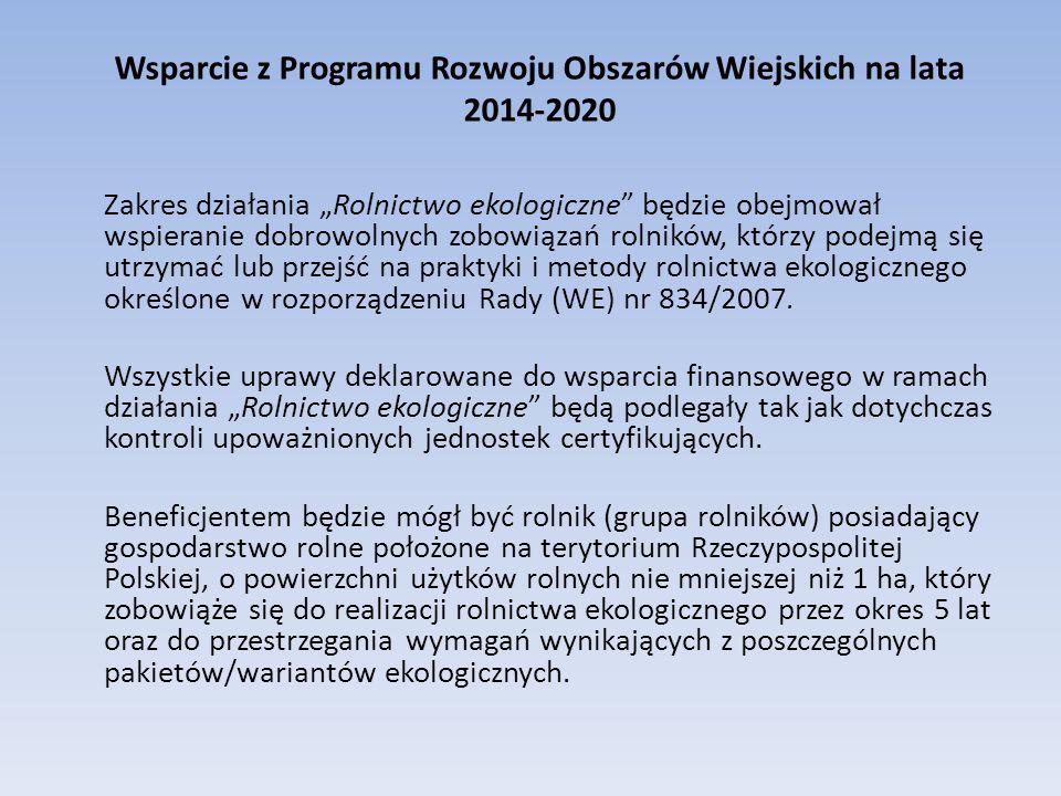 Wsparcie z Programu Rozwoju Obszarów Wiejskich na lata 2014-2020