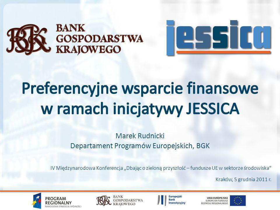 Preferencyjne wsparcie finansowe w ramach inicjatywy JESSICA