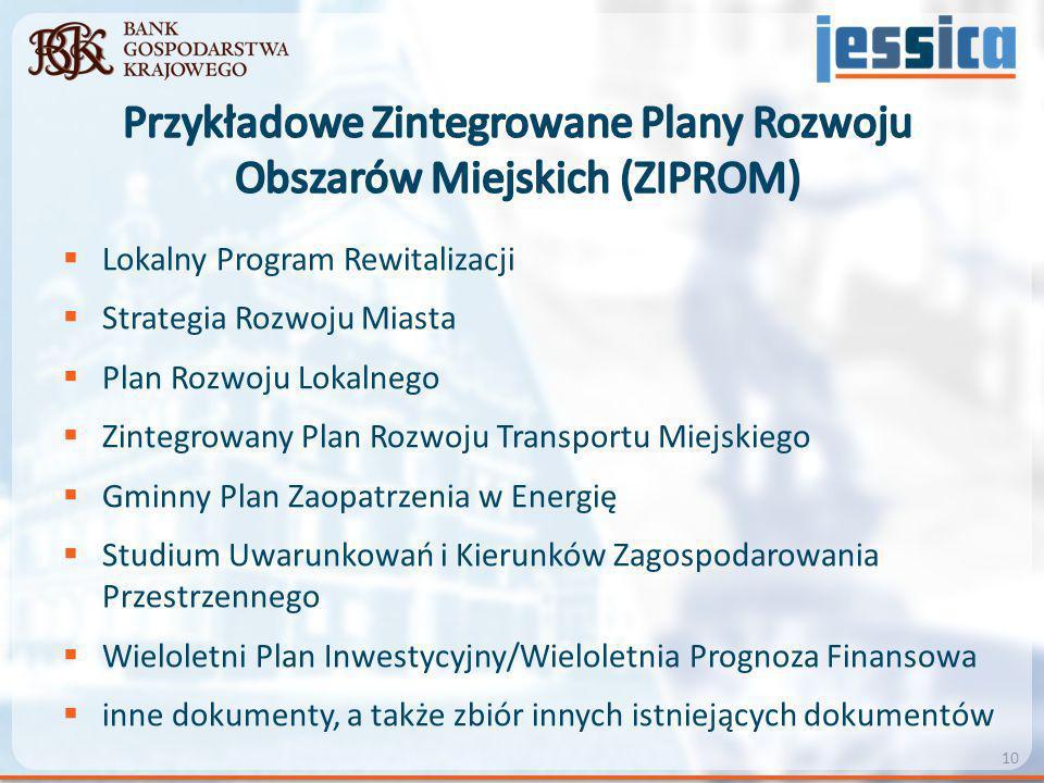 Przykładowe Zintegrowane Plany Rozwoju Obszarów Miejskich (ZIPROM)