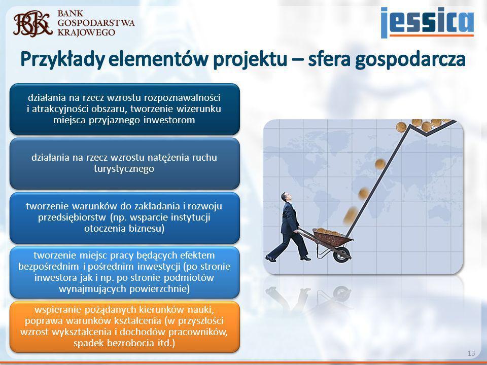 Przykłady elementów projektu – sfera gospodarcza