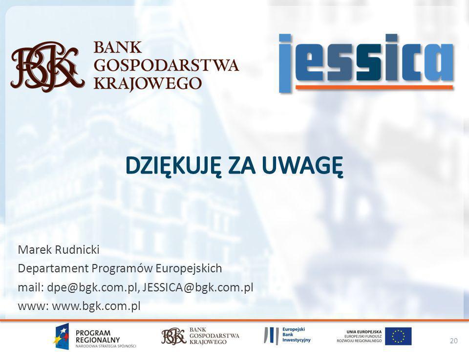 Dziękuję za uwagę Marek Rudnicki Departament Programów Europejskich