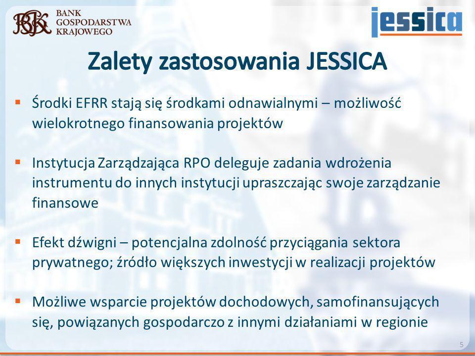 Zalety zastosowania JESSICA