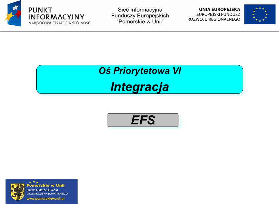 Oś Priorytetowa VI Integracja EFS