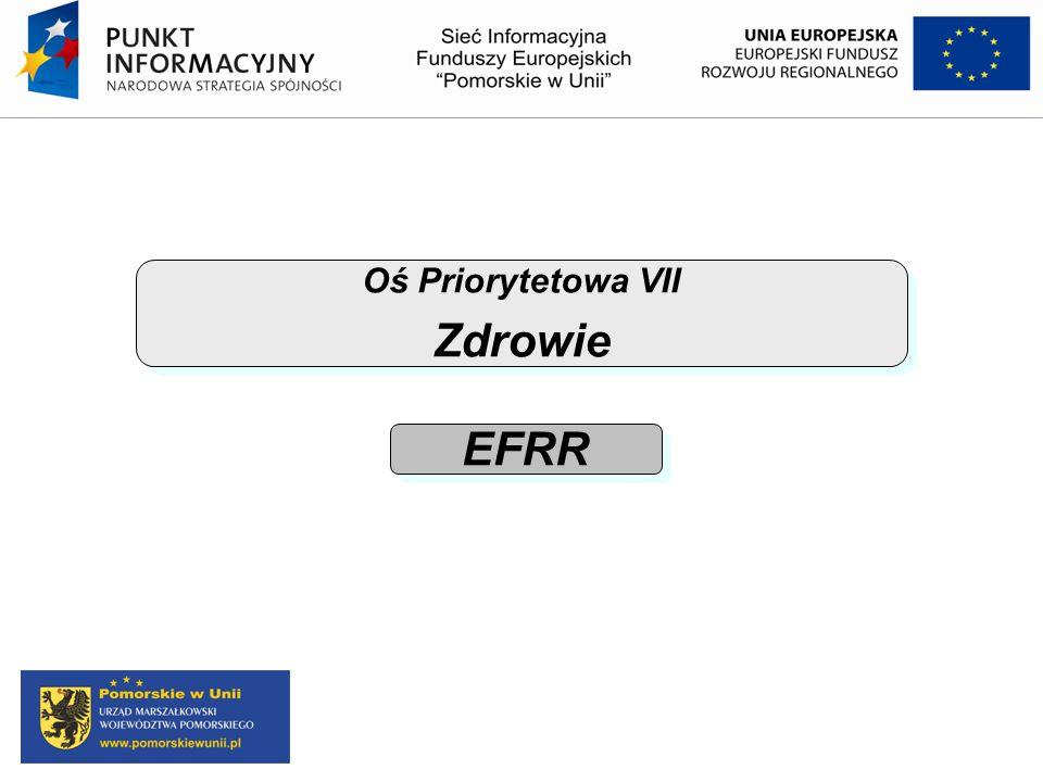 Oś Priorytetowa VII Zdrowie EFRR