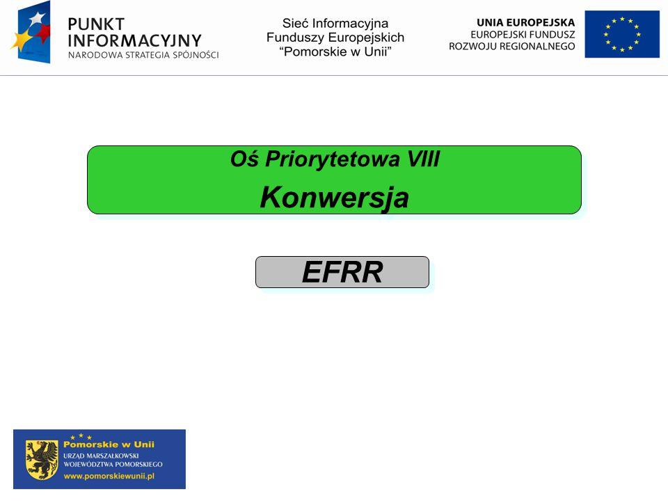 Oś Priorytetowa VIII Konwersja EFRR