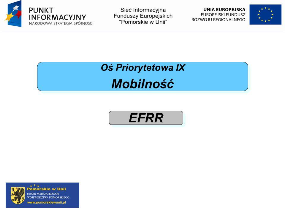 Oś Priorytetowa IX Mobilność EFRR