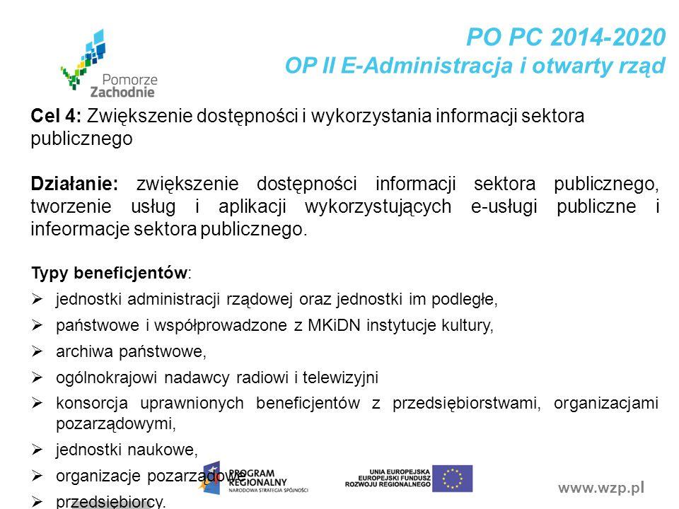 PO PC 2014-2020 OP II E-Administracja i otwarty rząd