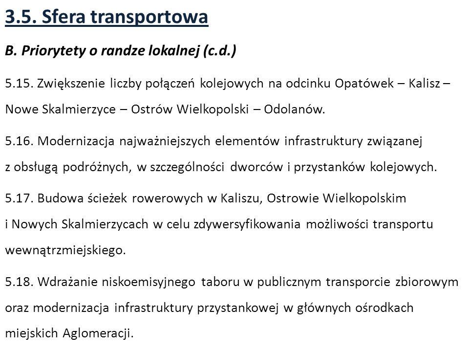 3.5. Sfera transportowa B. Priorytety o randze lokalnej (c.d.)
