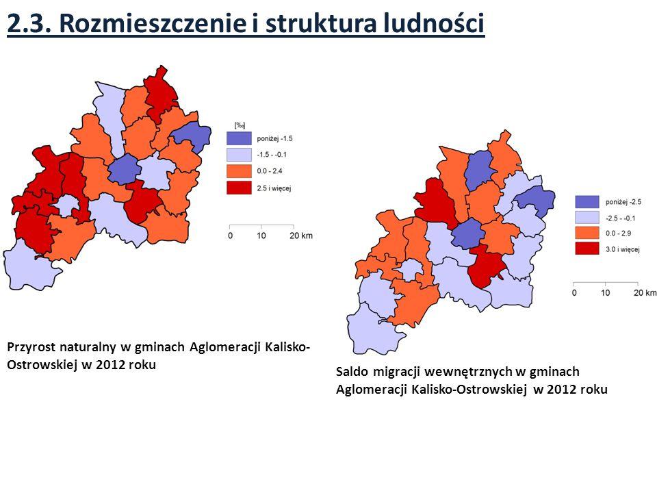 2.3. Rozmieszczenie i struktura ludności