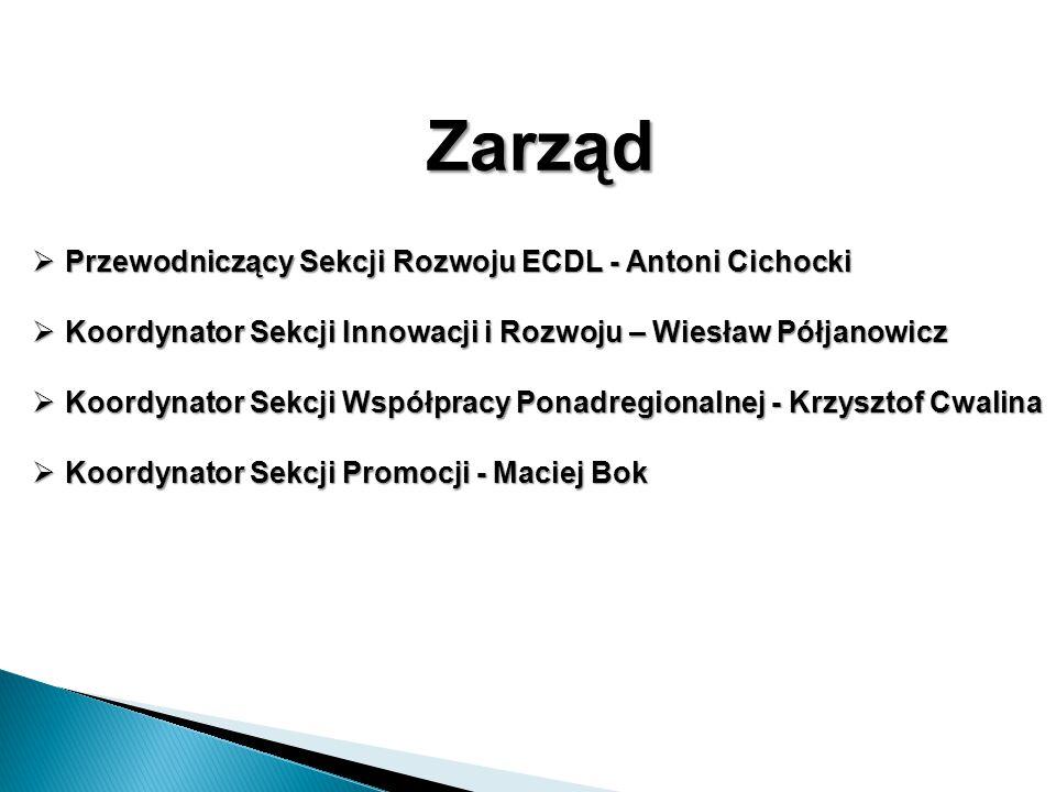 Zarząd Przewodniczący Sekcji Rozwoju ECDL - Antoni Cichocki