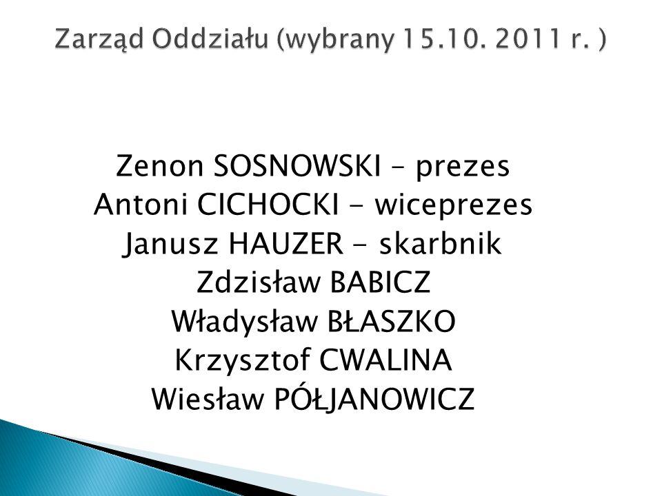 Zarząd Oddziału (wybrany 15.10. 2011 r. )