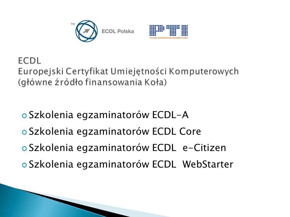 Szkolenia egzaminatorów ECDL-A Szkolenia egzaminatorów ECDL Core