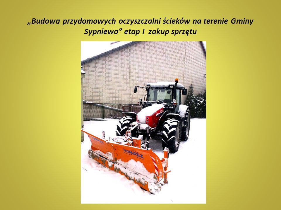 """""""Budowa przydomowych oczyszczalni ścieków na terenie Gminy Sypniewo etap I zakup sprzętu"""