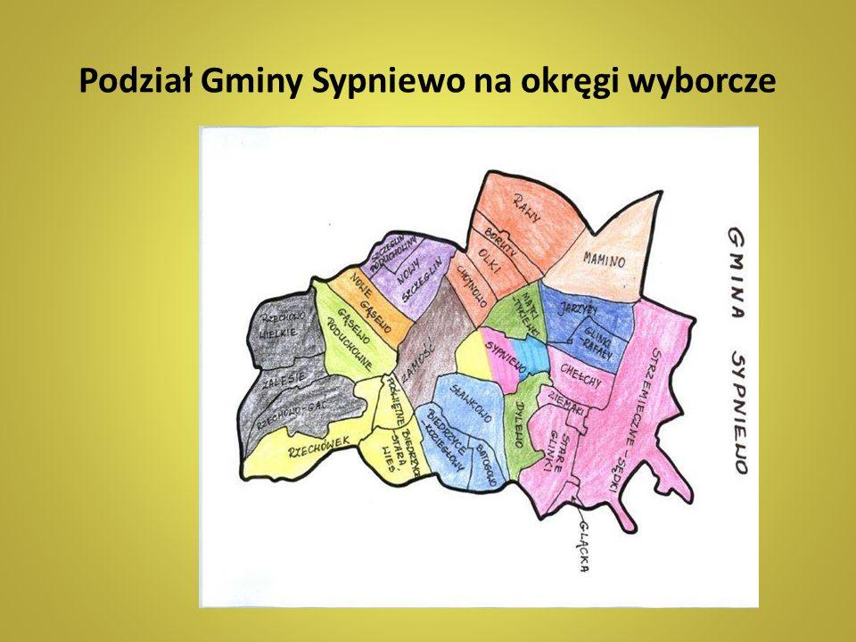 Podział Gminy Sypniewo na okręgi wyborcze
