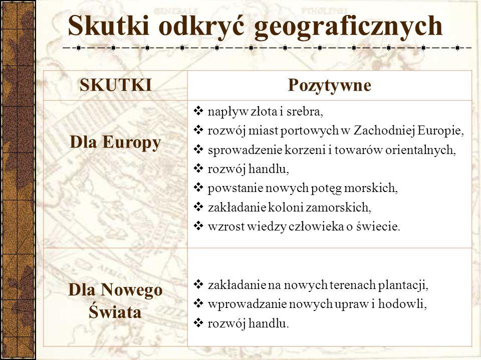 Skutki odkryć geograficznych