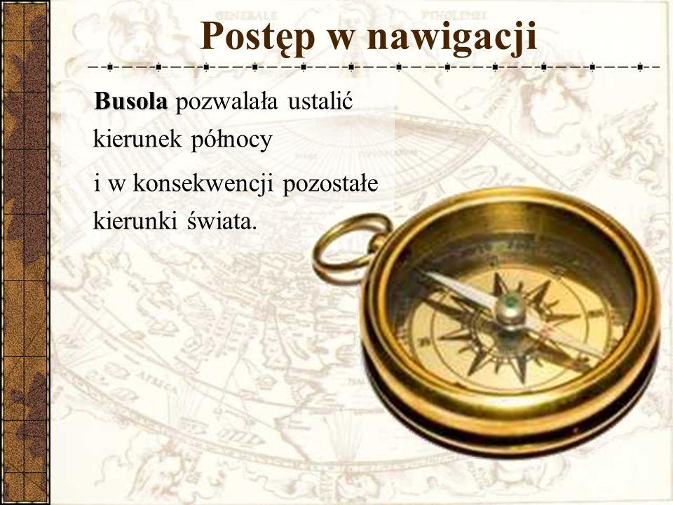Postęp w nawigacji Busola pozwalała ustalić kierunek północy