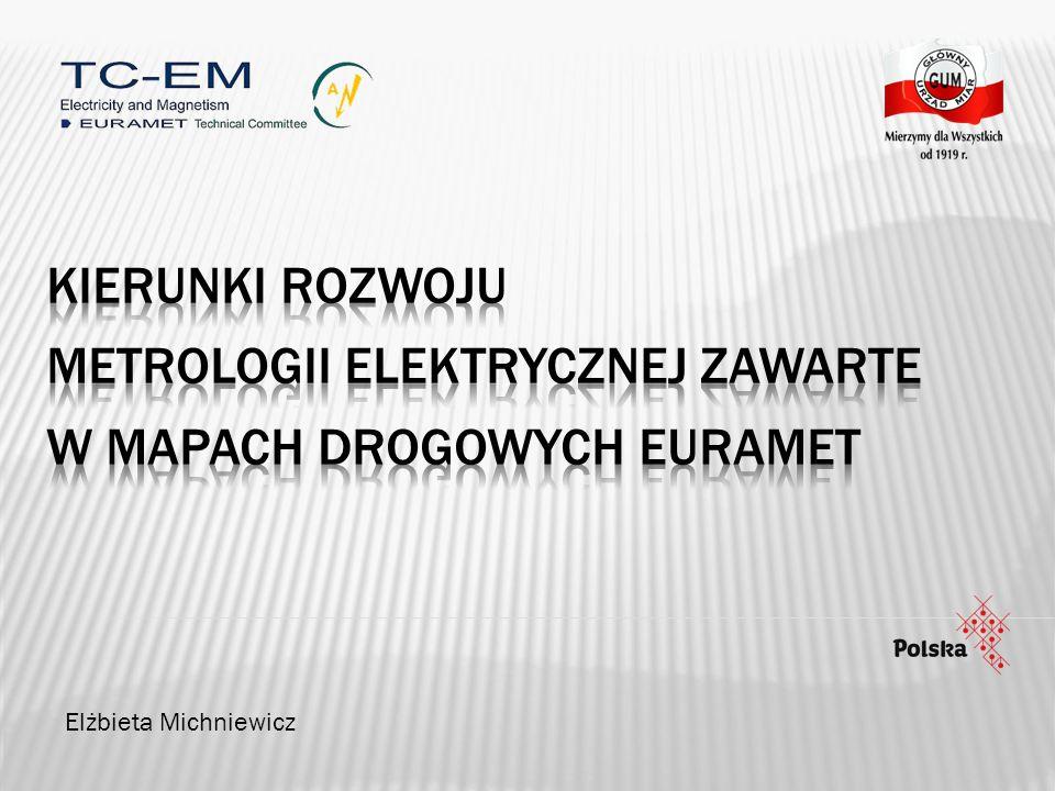 Metrologii Elektrycznej zawarte w mapach Drogowych Euramet