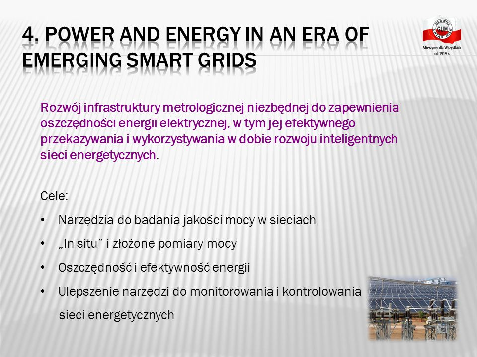 4. Power and Energy in an era of emerging Smart Grids
