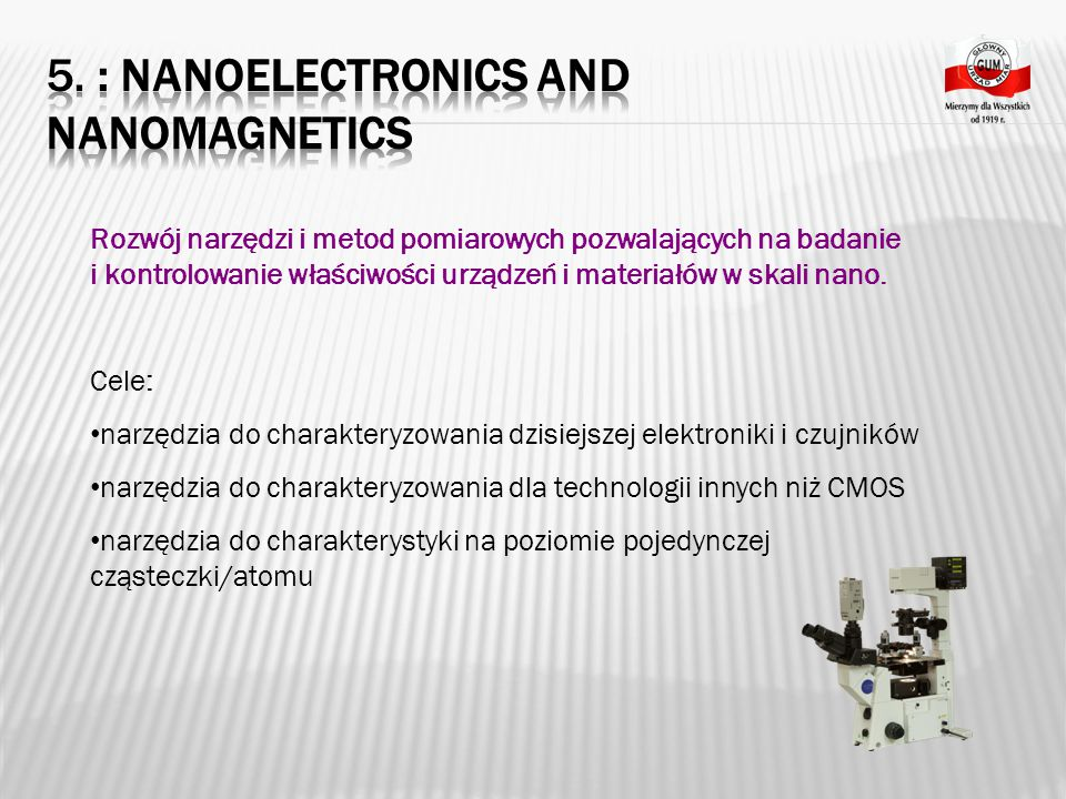5. : Nanoelectronics and nanomagnetics