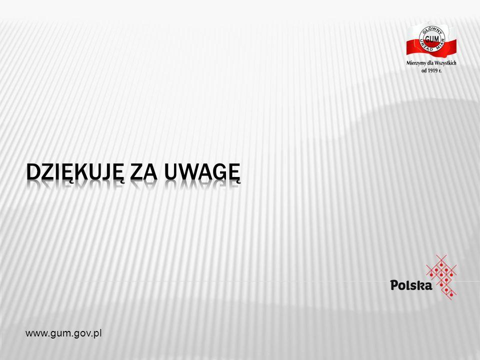 Dziękuję za uwagę www.gum.gov.pl