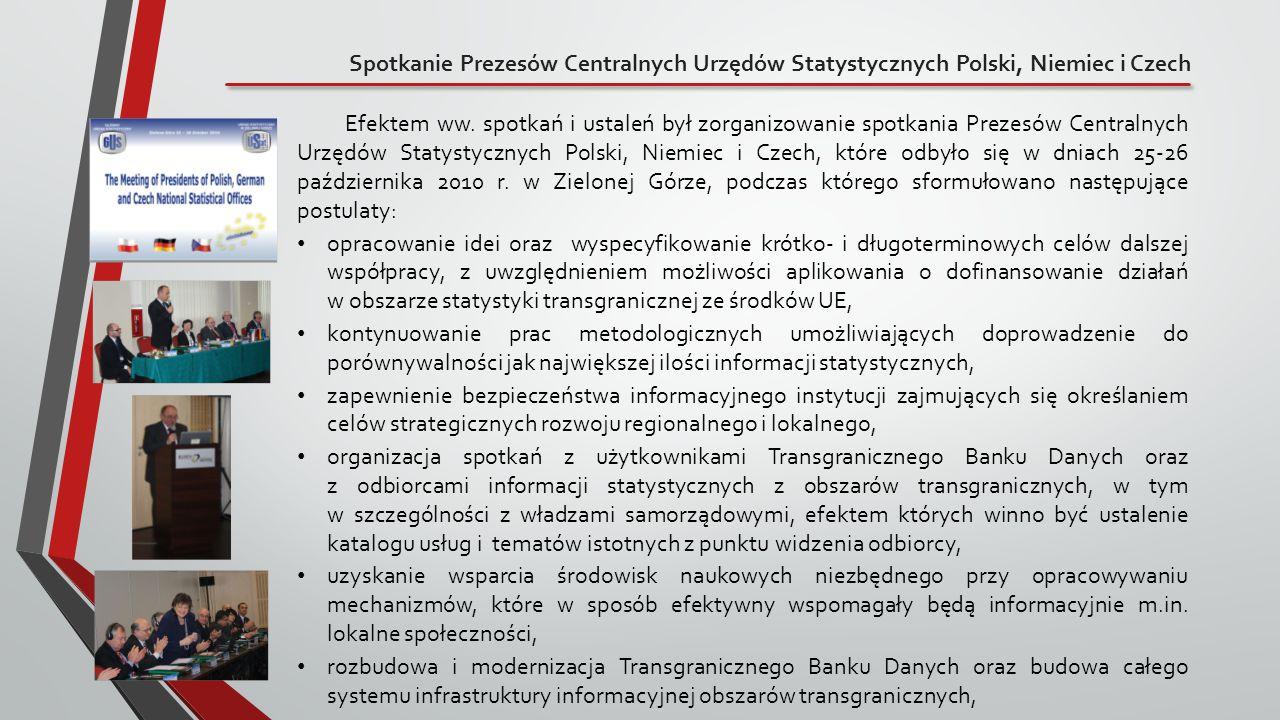 Spotkanie Prezesów Centralnych Urzędów Statystycznych Polski, Niemiec i Czech