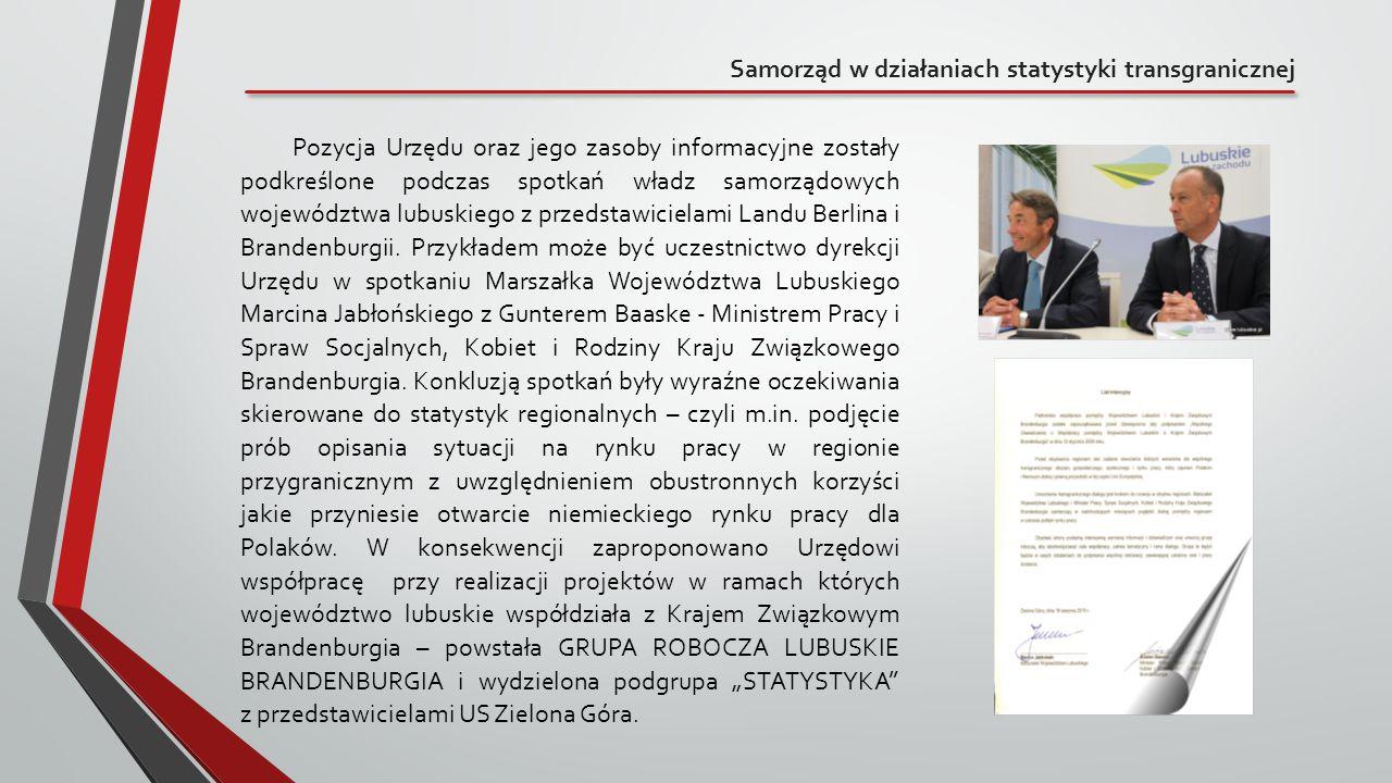 Samorząd w działaniach statystyki transgranicznej