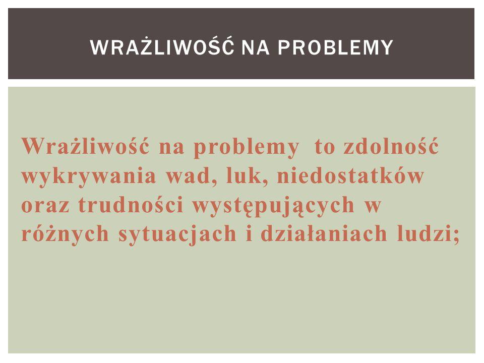 Wrażliwość na problemy