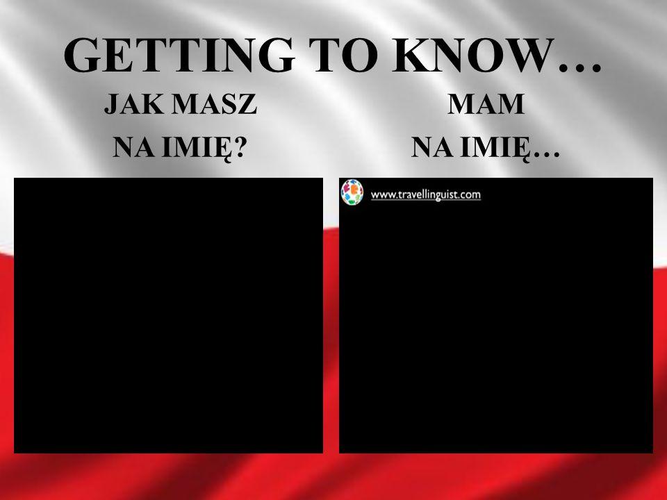 GETTING TO KNOW… JAK MASZ NA IMIĘ MAM NA IMIĘ…