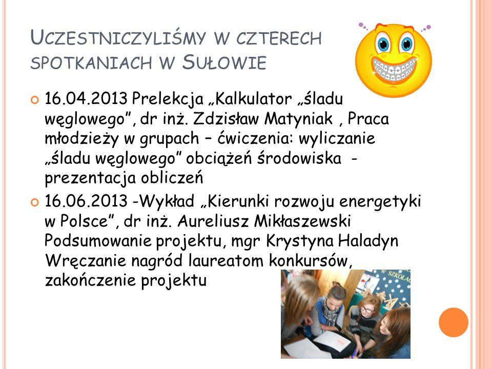 Uczestniczyliśmy w czterech spotkaniach w Sułowie