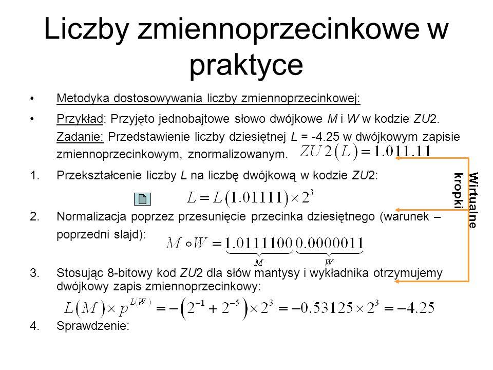 Liczby zmiennoprzecinkowe w praktyce