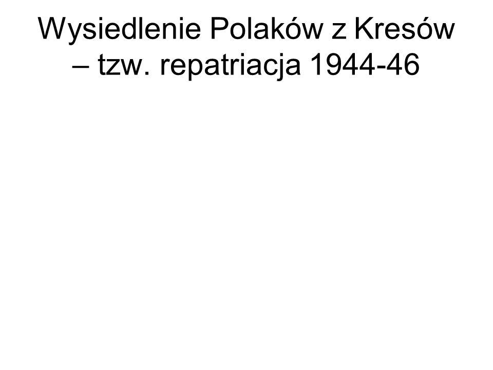 Wysiedlenie Polaków z Kresów – tzw. repatriacja 1944-46
