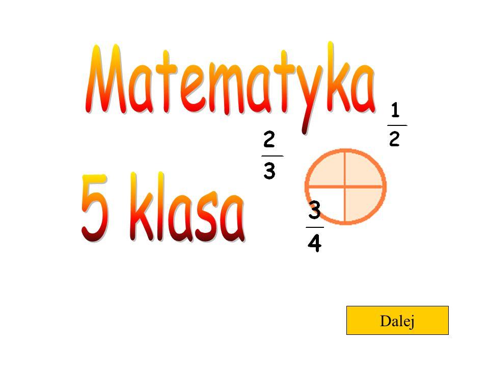 Matematyka 5 klasa Dalej