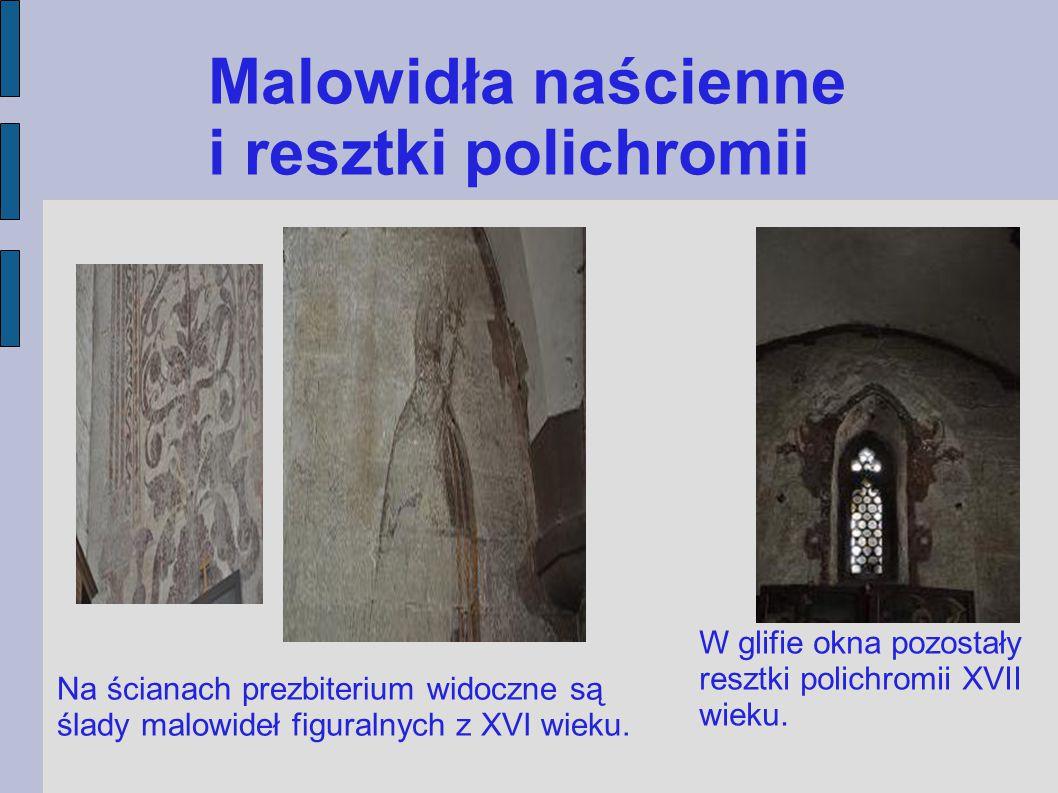 Malowidła naścienne i resztki polichromii