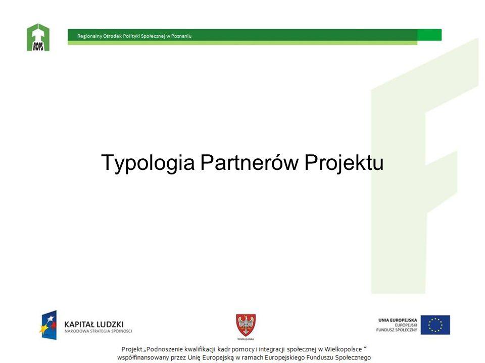 Typologia Partnerów Projektu