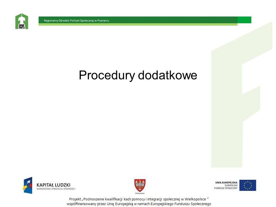 Procedury dodatkowe