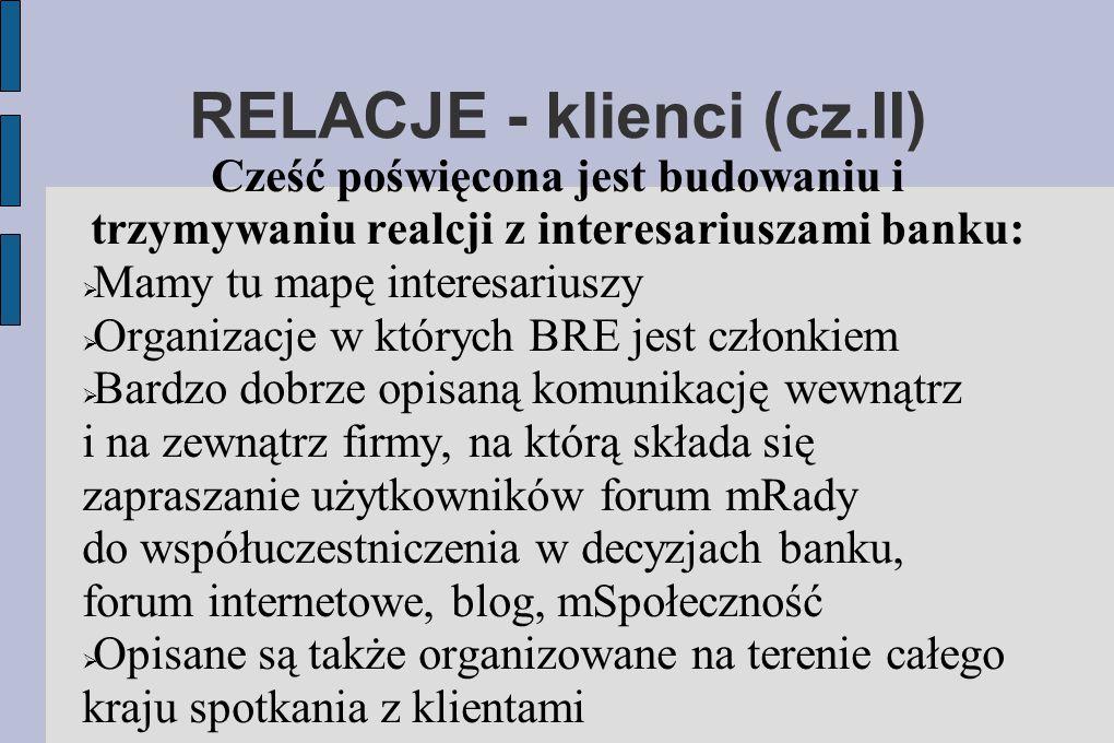 RELACJE - klienci (cz.II)