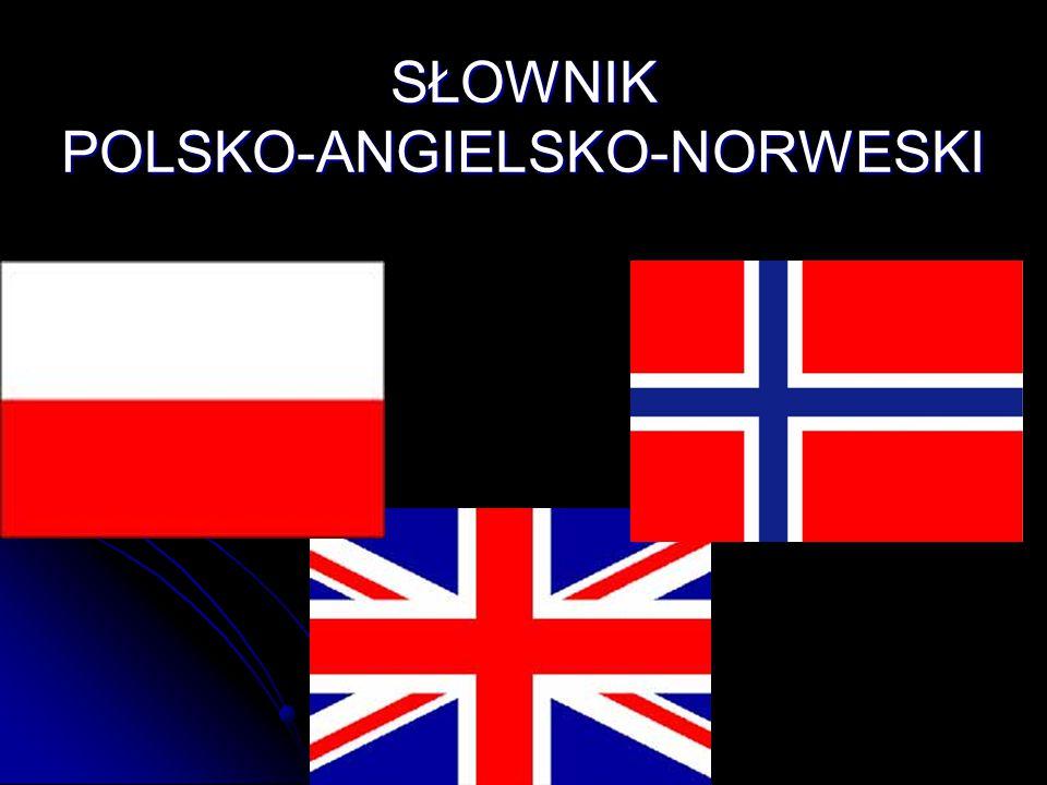 SŁOWNIK POLSKO-ANGIELSKO-NORWESKI