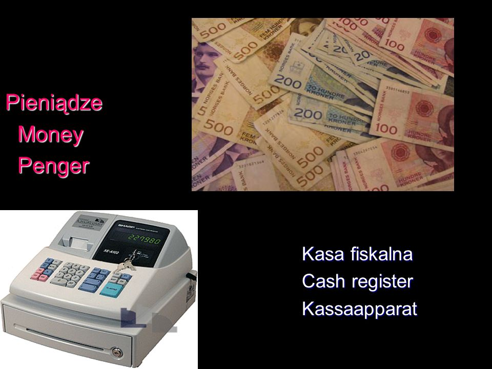 Pieniądze Money Penger Kasa fiskalna Cash register Kassaapparat