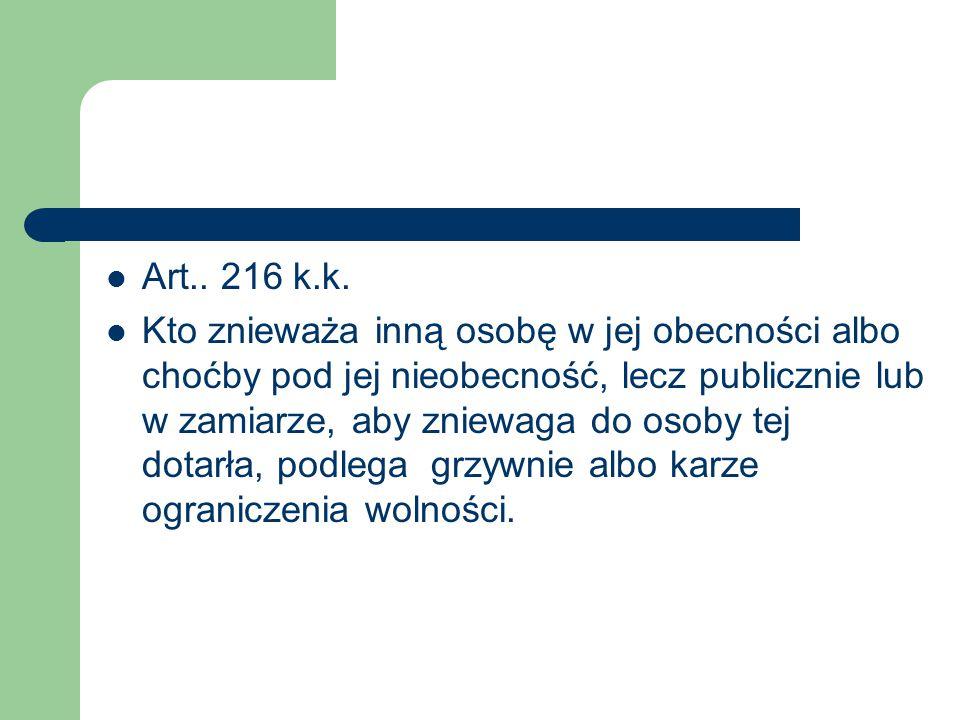 Art.. 216 k.k.