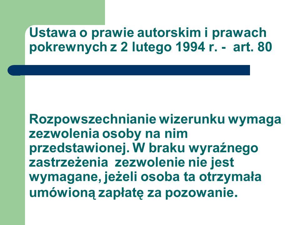 Ustawa o prawie autorskim i prawach pokrewnych z 2 lutego 1994 r.